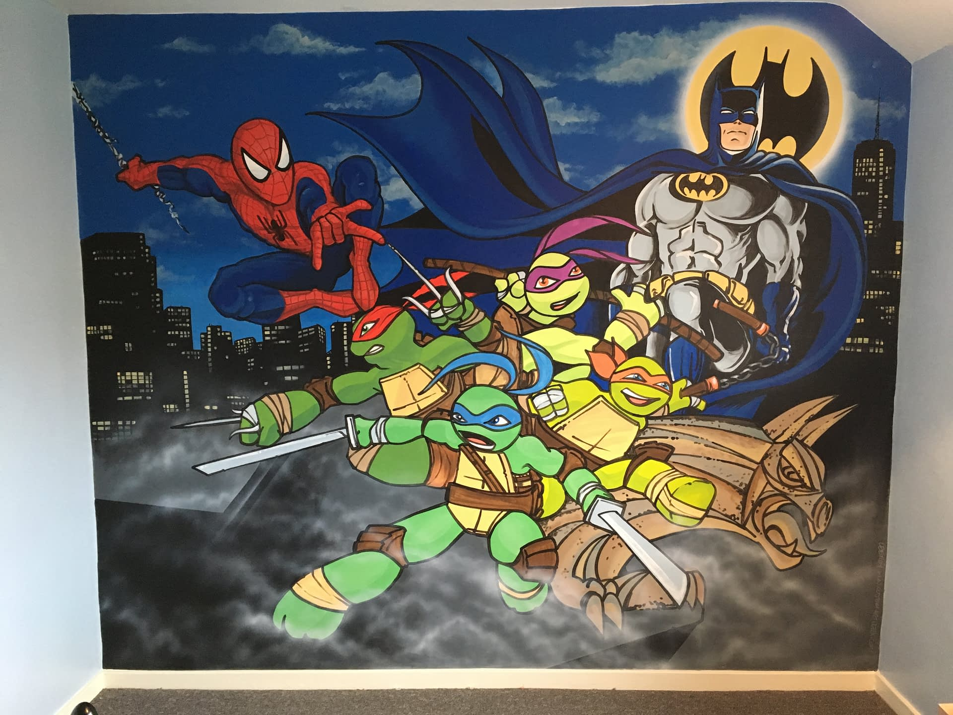 Batman, Spiderman & TMNT