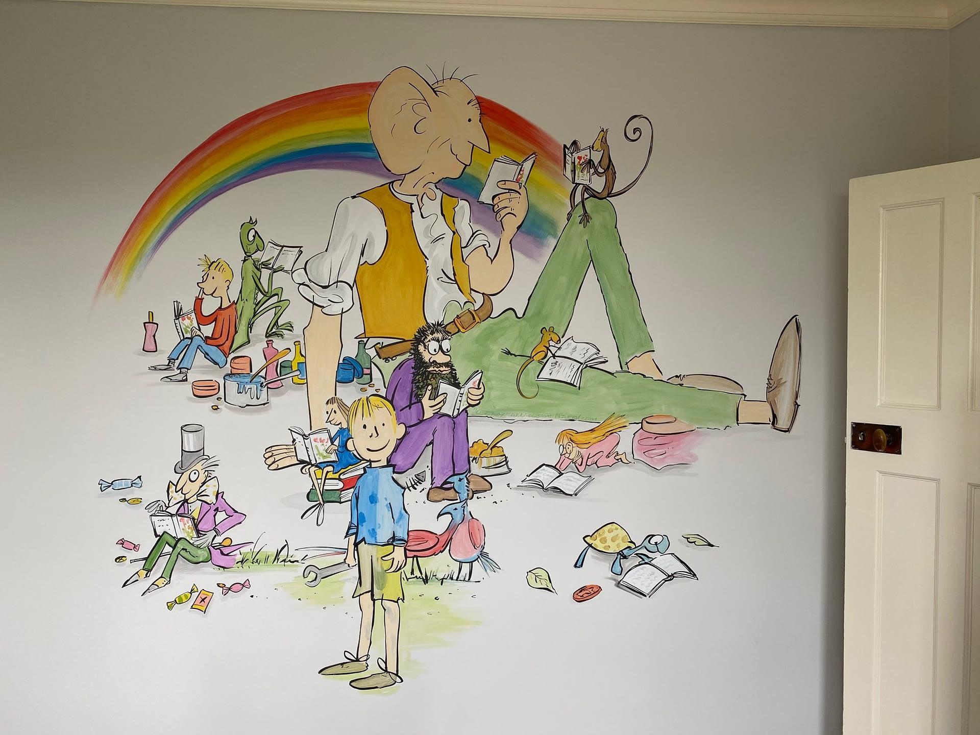 Roald Dhal ( Quentin Blake ) Mural