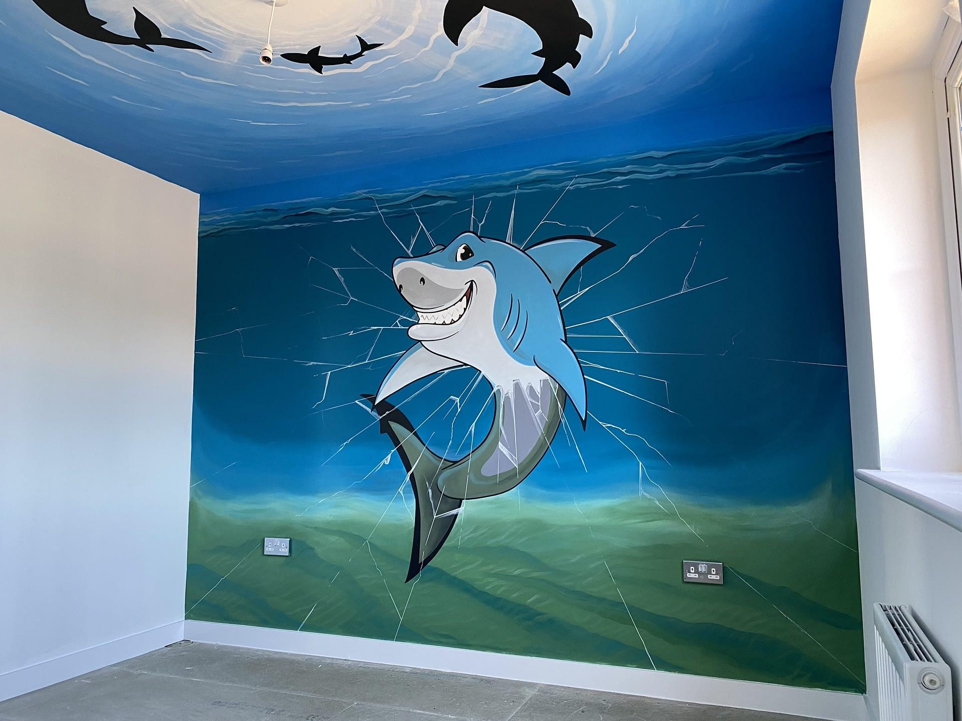 Showhome Shark Mural ( Miller Homes )