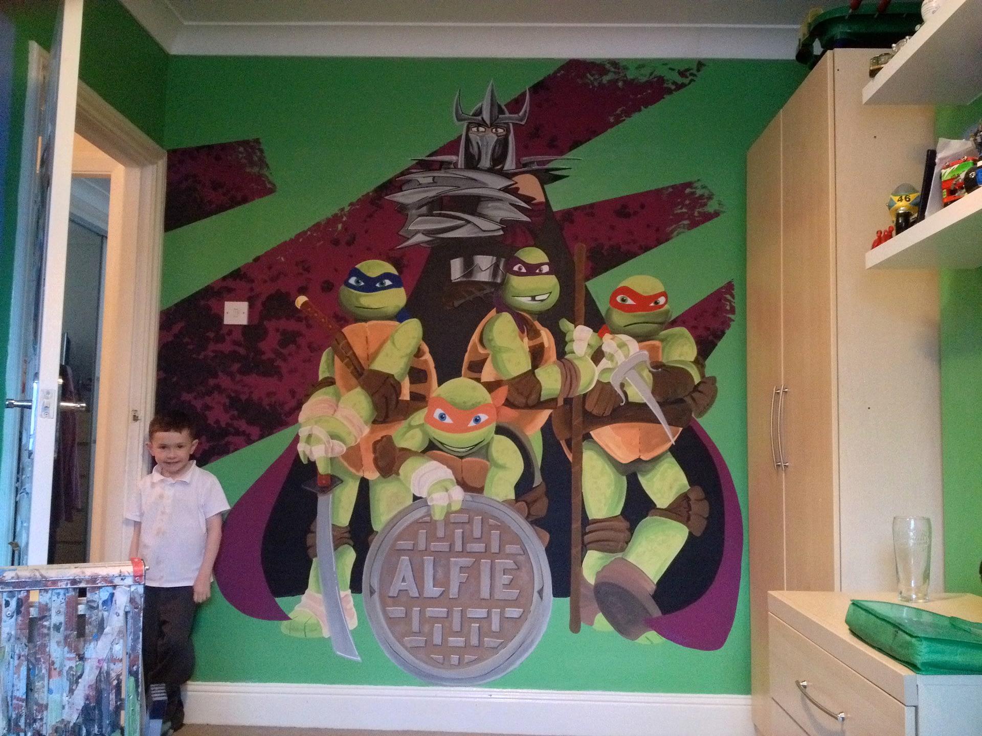 TMNT - Ninja Turtle Mural