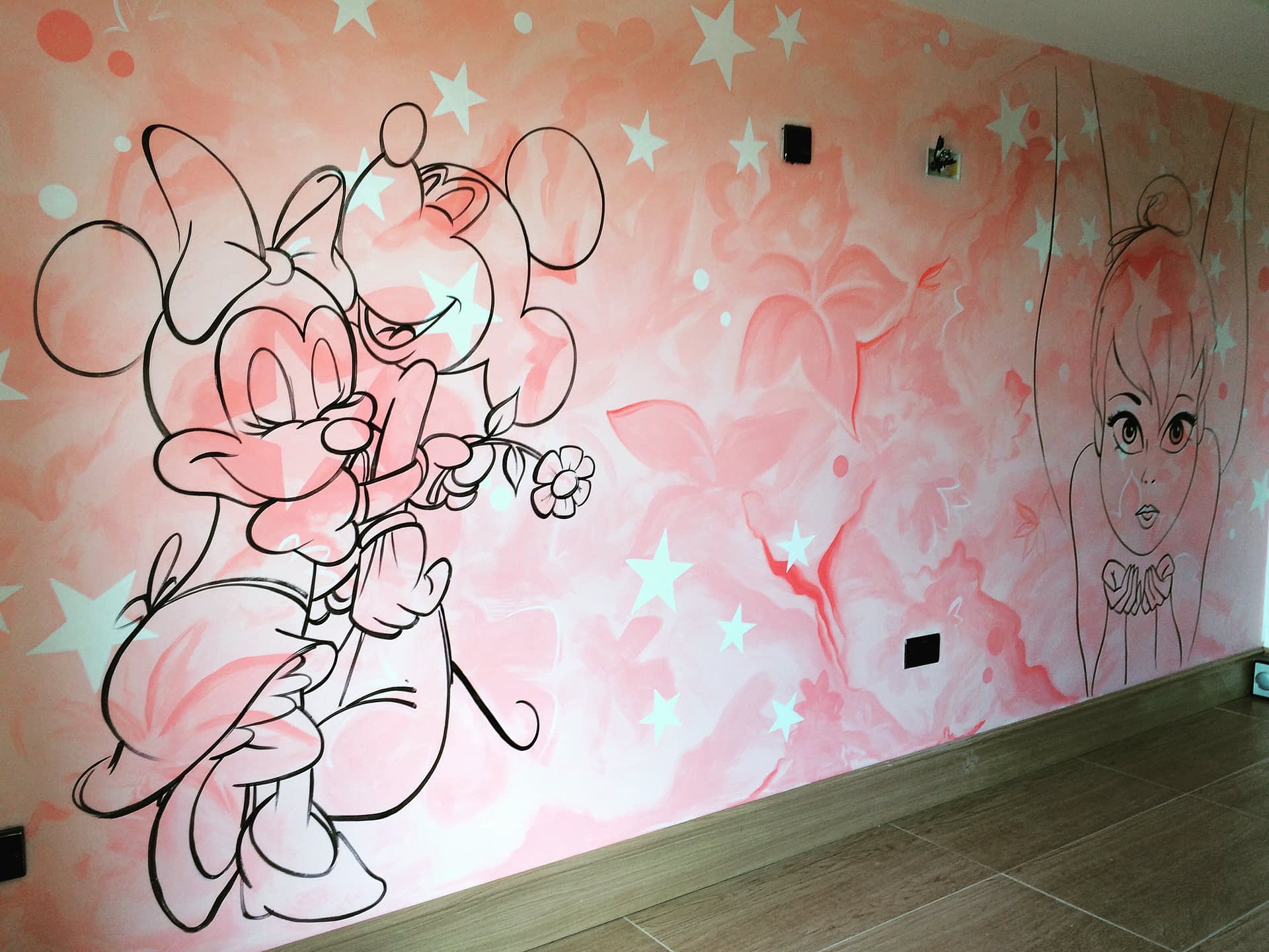 Abstract Disney Mural