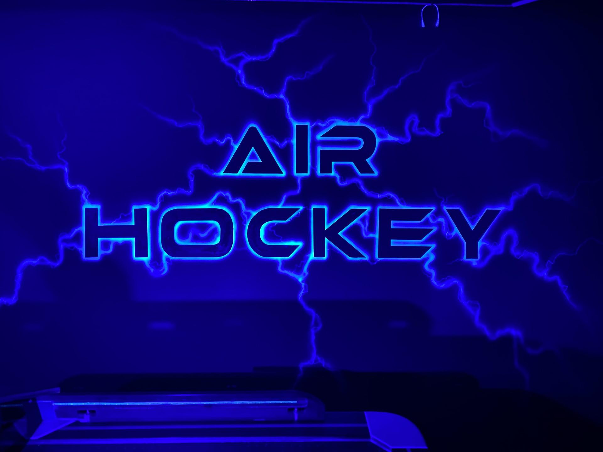War Room Neon Air Hockey