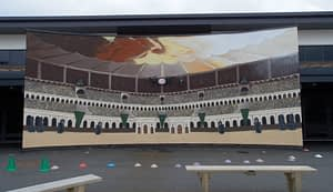 Colosseum Mural Schhool playground
