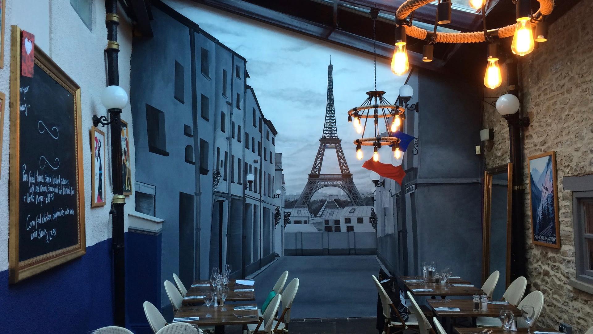 Rustique Restaurant Paris Mural