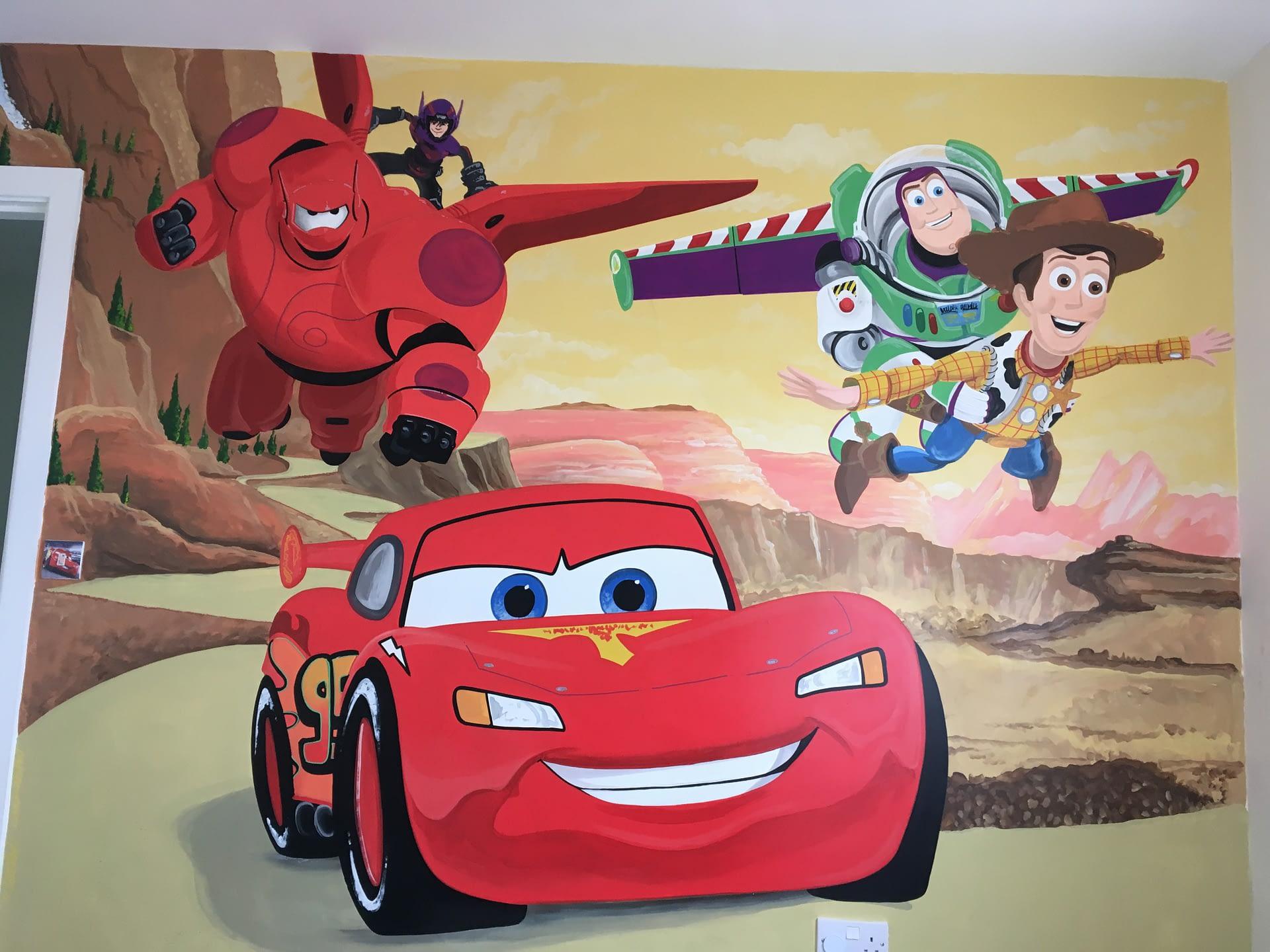 Pixar Mural