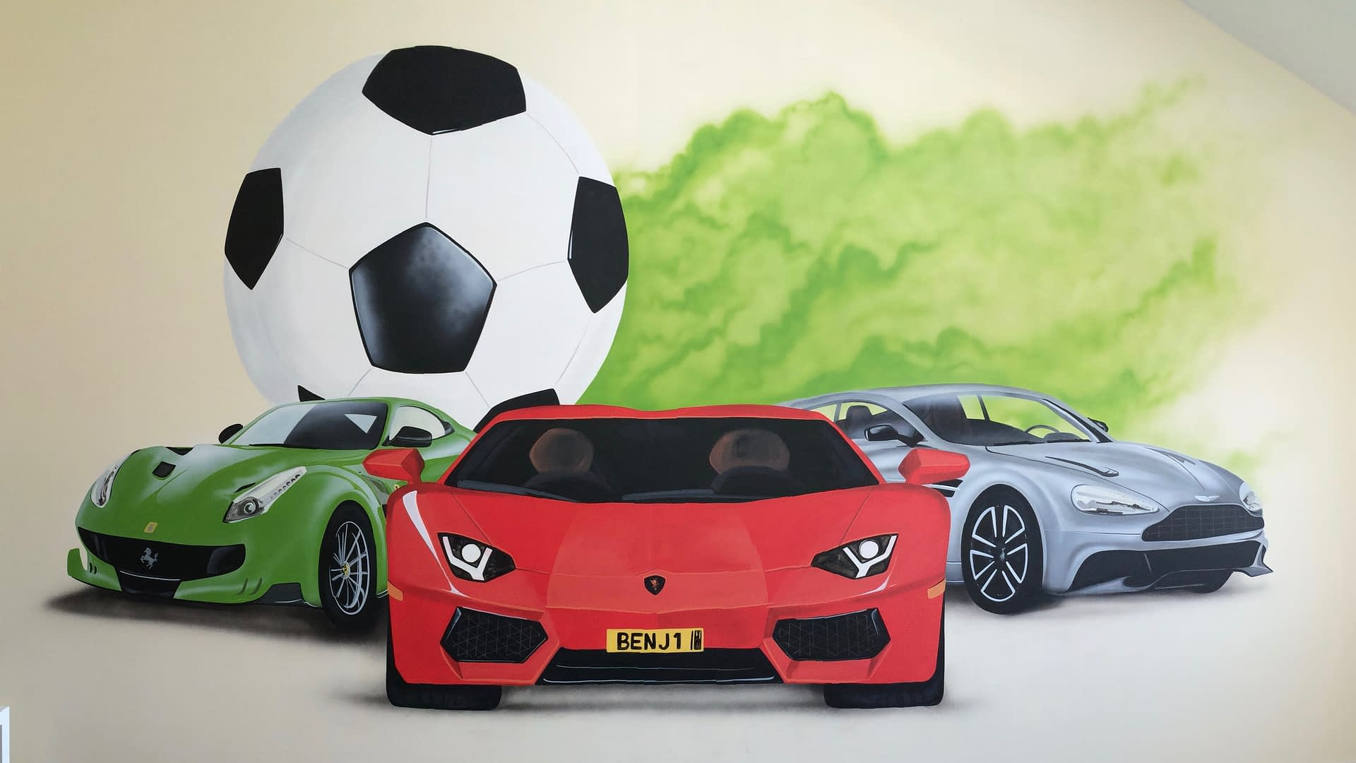 Fast Cars & Football Mural