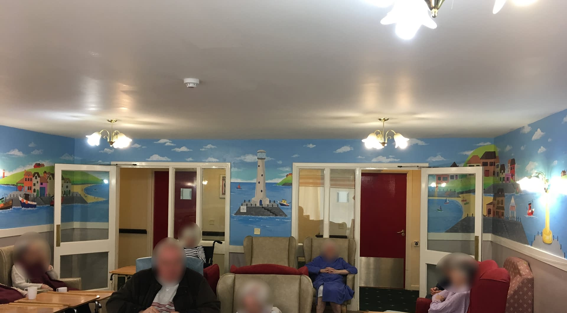 St. Andrews Care home ( Day Room Seaside Mural )