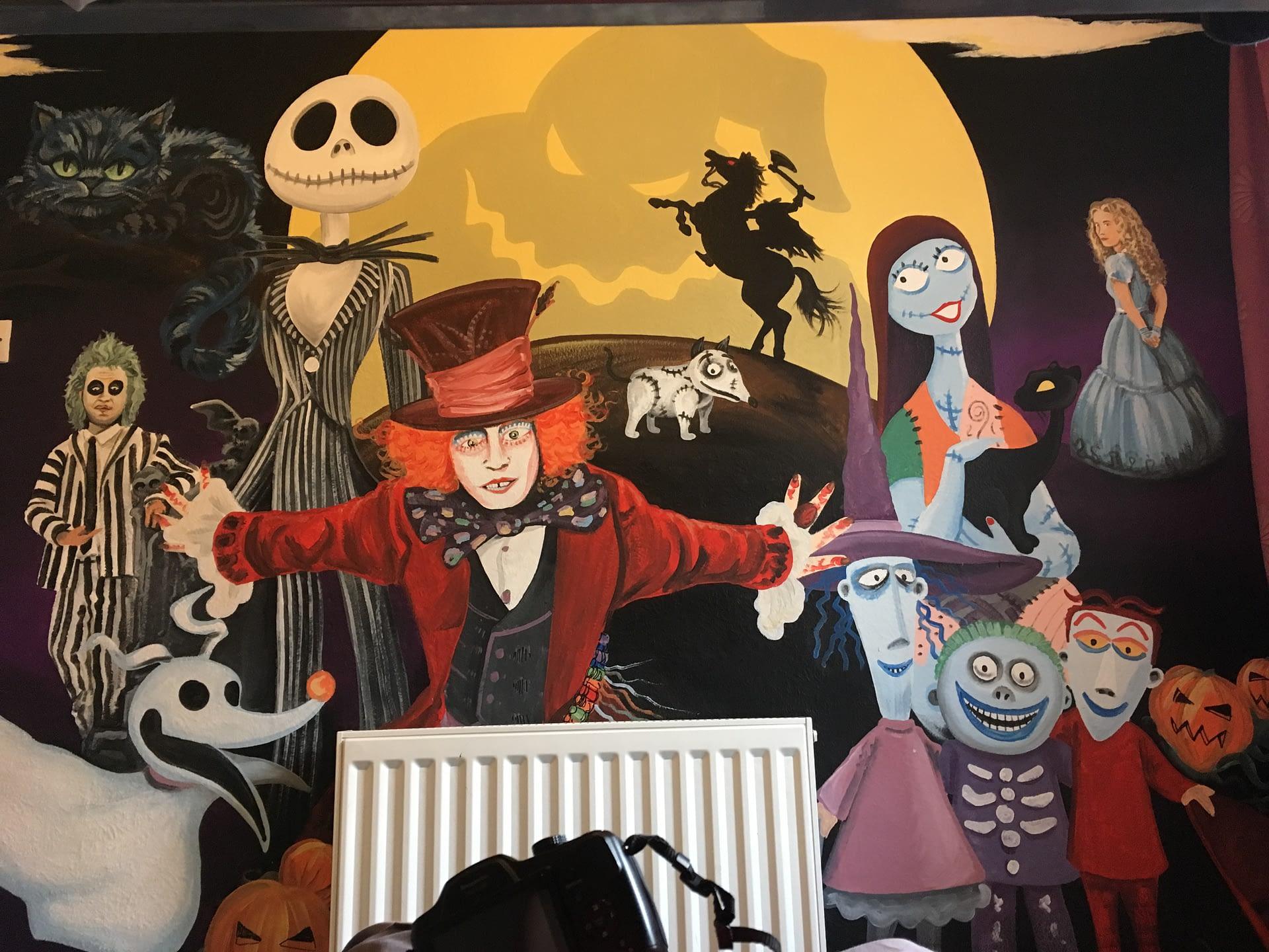 Tim Burton Mural
