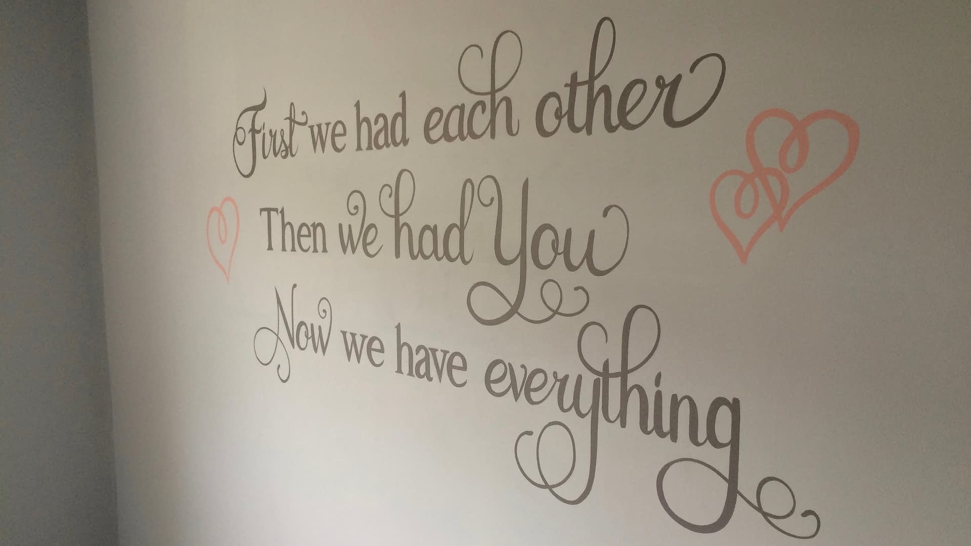 Nursery wall Quote