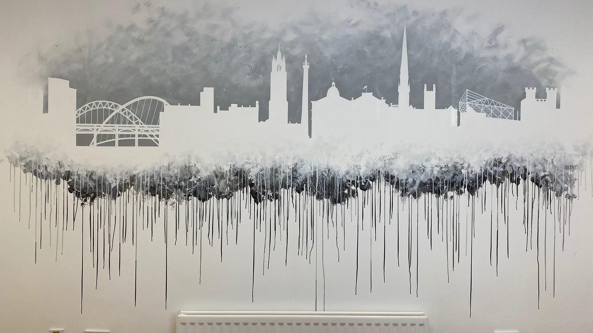 NE Skyline Board Room Wall