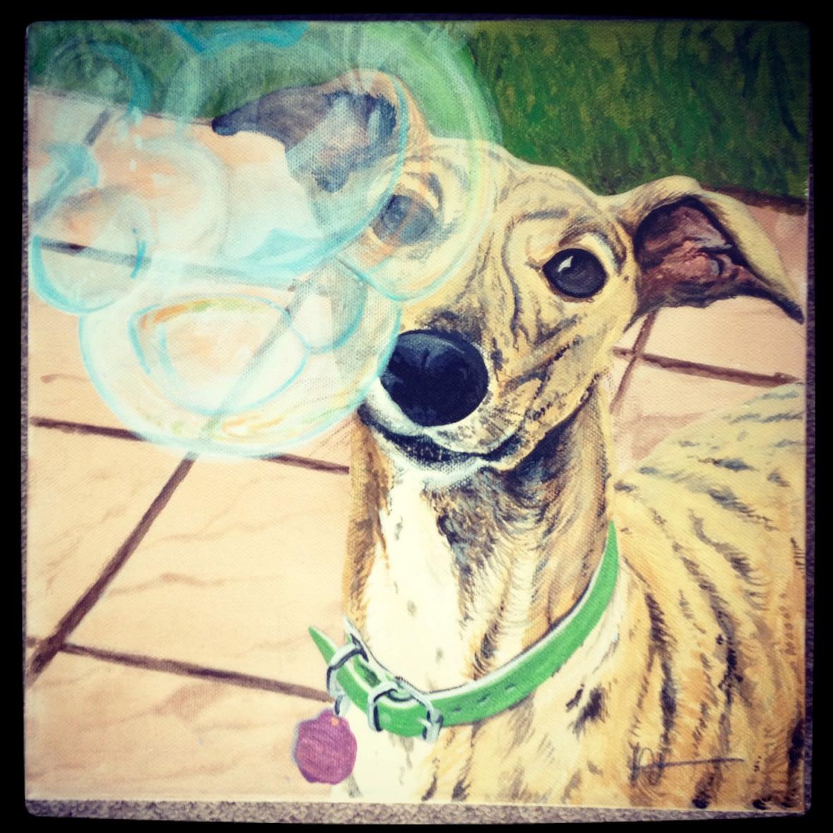 Dog & Bubbles Portrait
