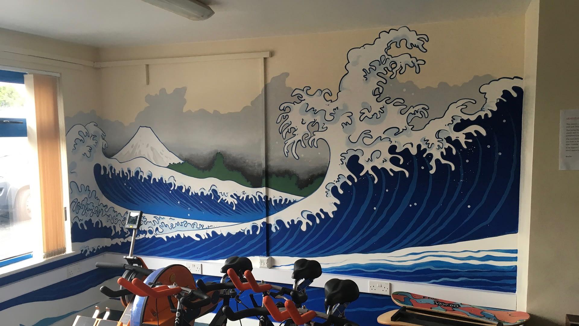 Walworth School Gym ( the great wave off kanagawa )