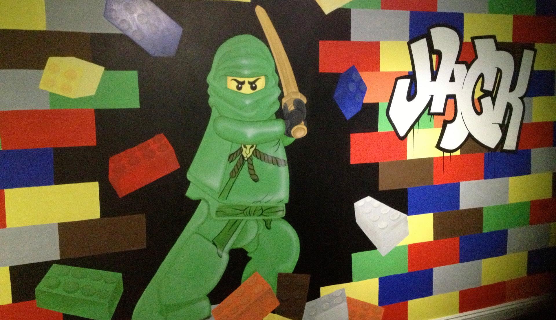 Lego Ninja Mural