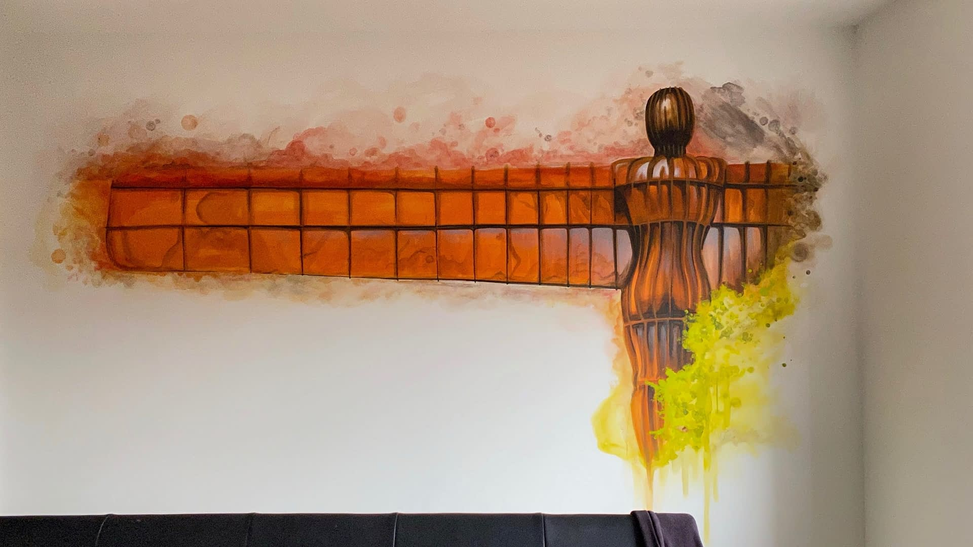 Angel Of The North Abstract