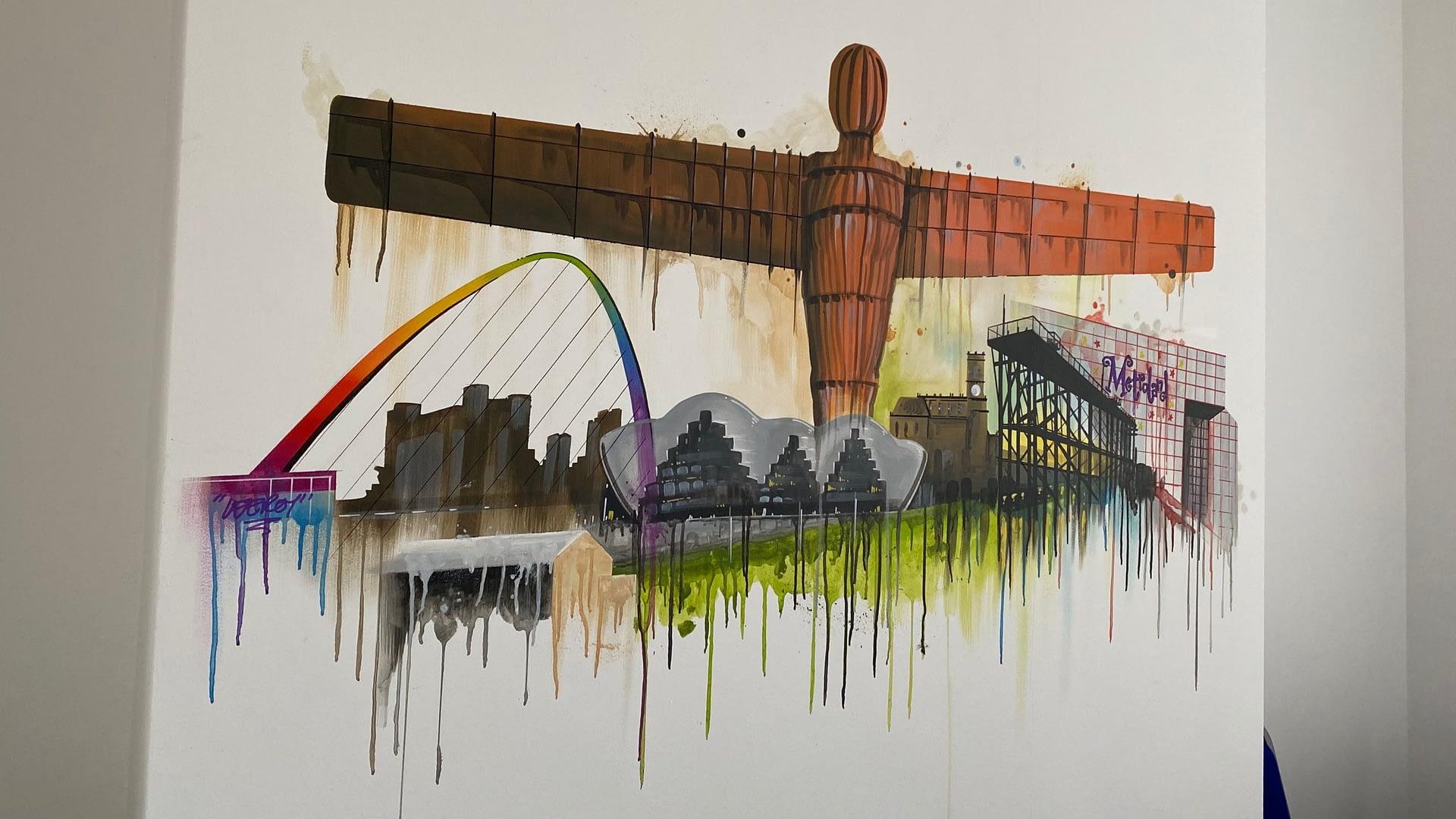 Gateshaed Landmarks Abstract