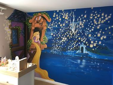 Tangled Mural, Tangled Wall Art,