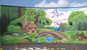 Forest Scene Outdoor Mural