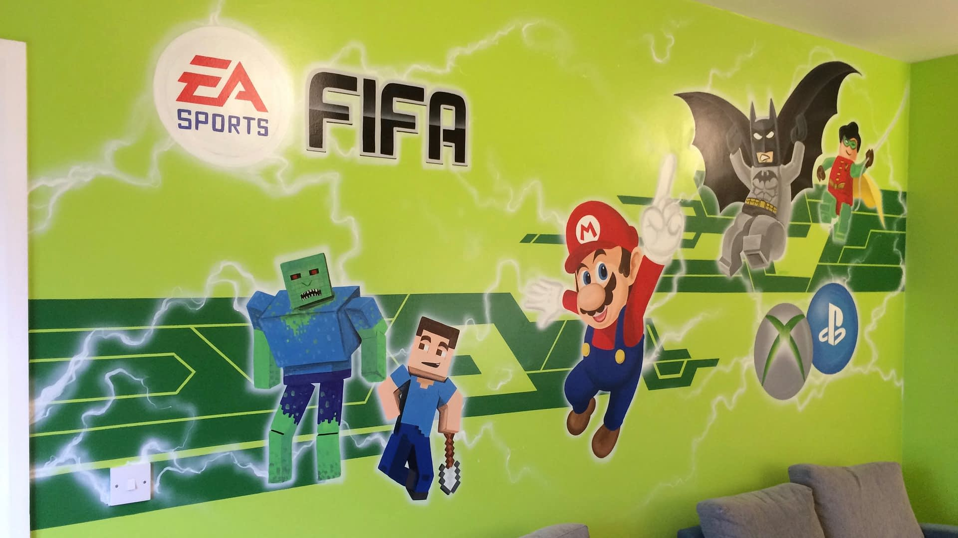 Games Room Wall Mural
