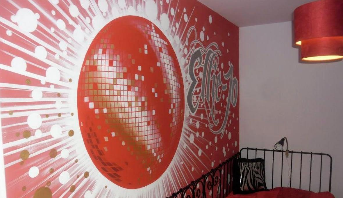 Disco Ball Bedroom