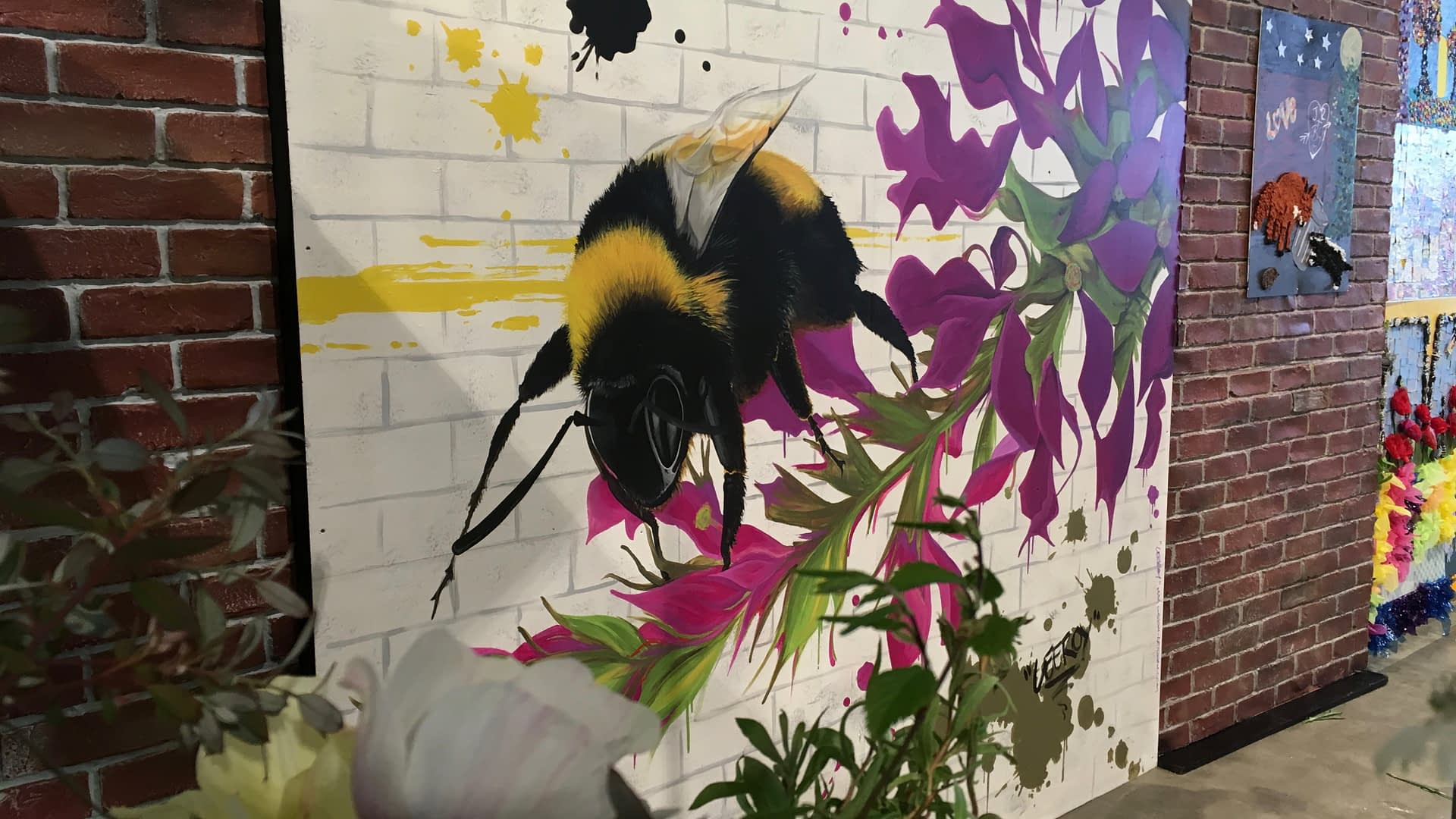Harrogate Flower Show 2019 Bee Mural