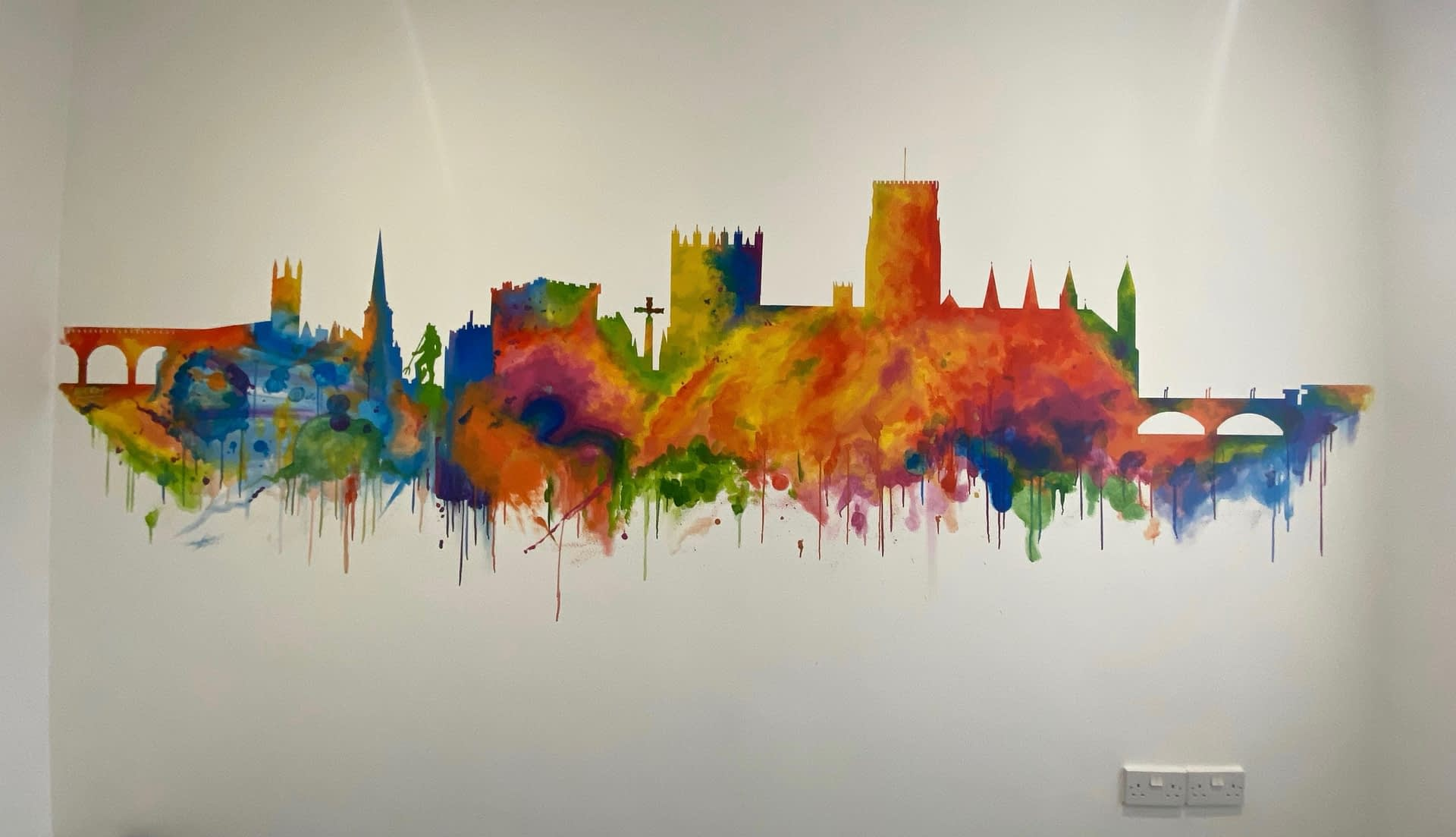 Durham Landmarks Abstract