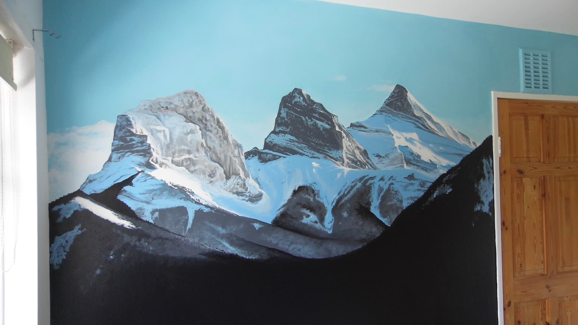 The three sisters ~ Canmore Mural