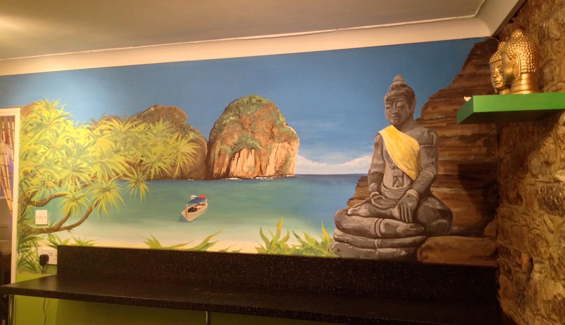 Thai Restaurant Wall Mural