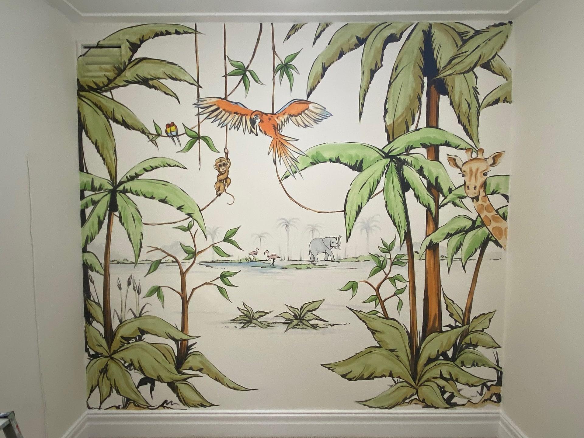 Illustrated Nursery mural