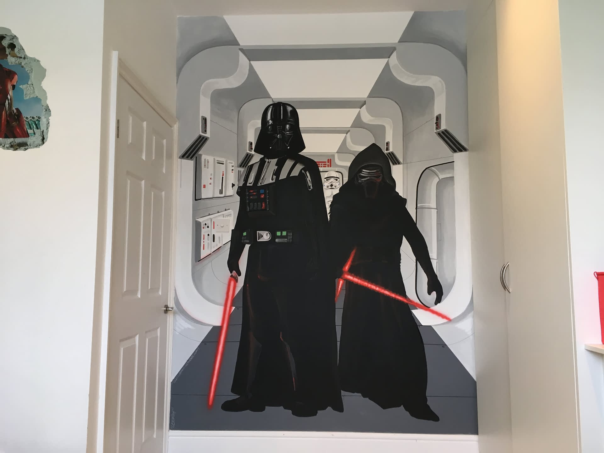 Darth Vader & Kylo Ren Star Wars Mural