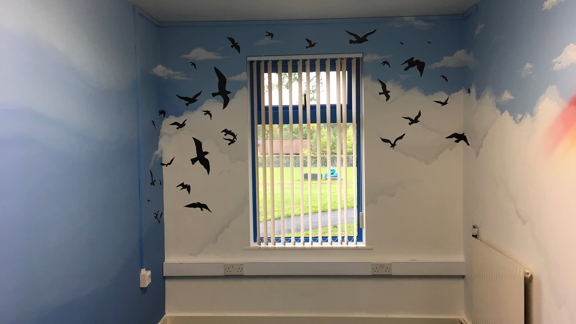 Birds & Clouds ( Walworth School )