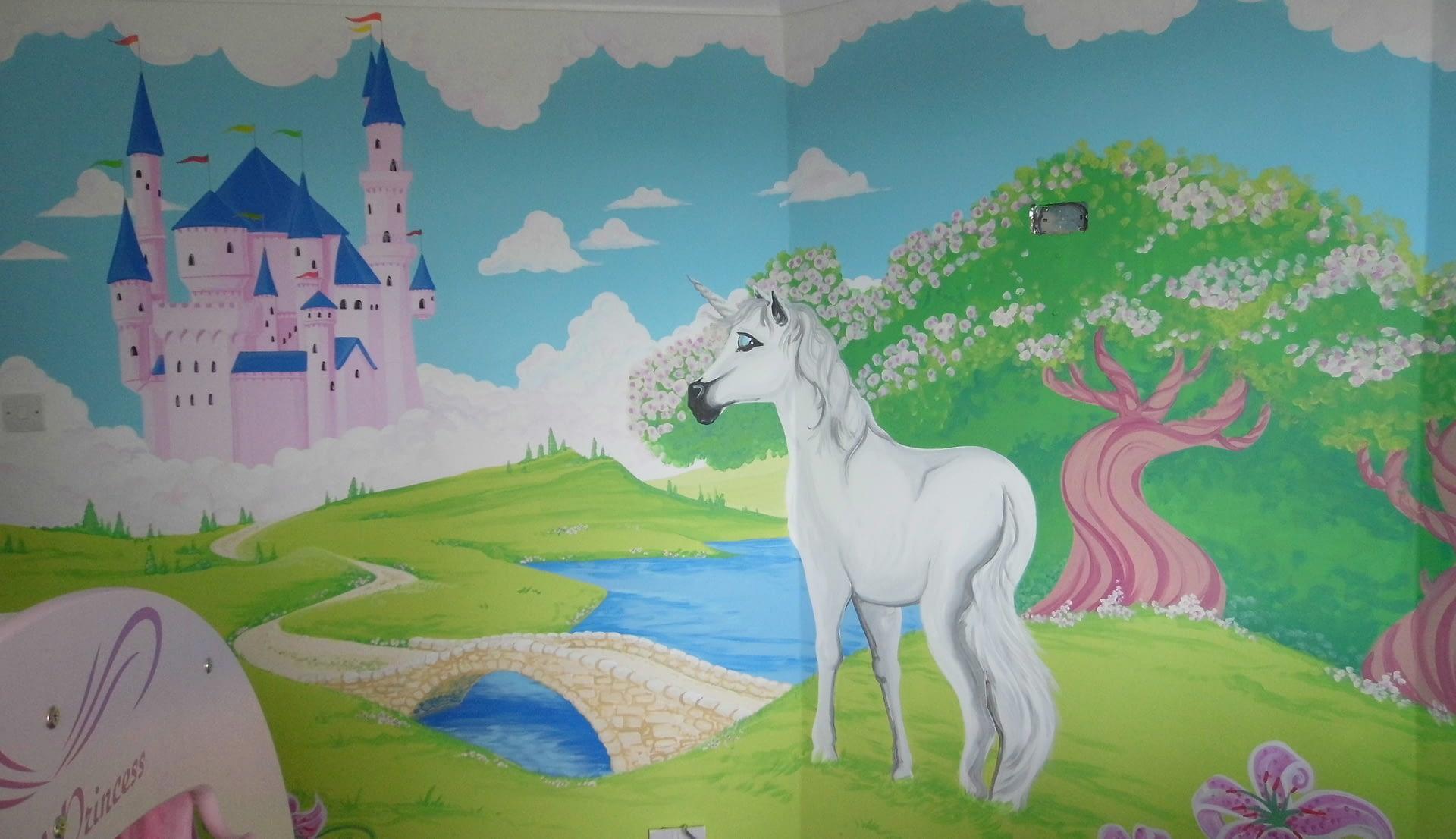 Unicorn~Princess Mural