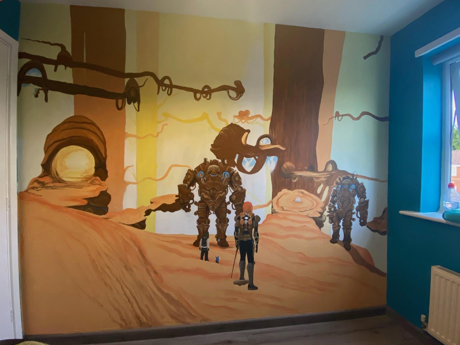 Gaming Mural