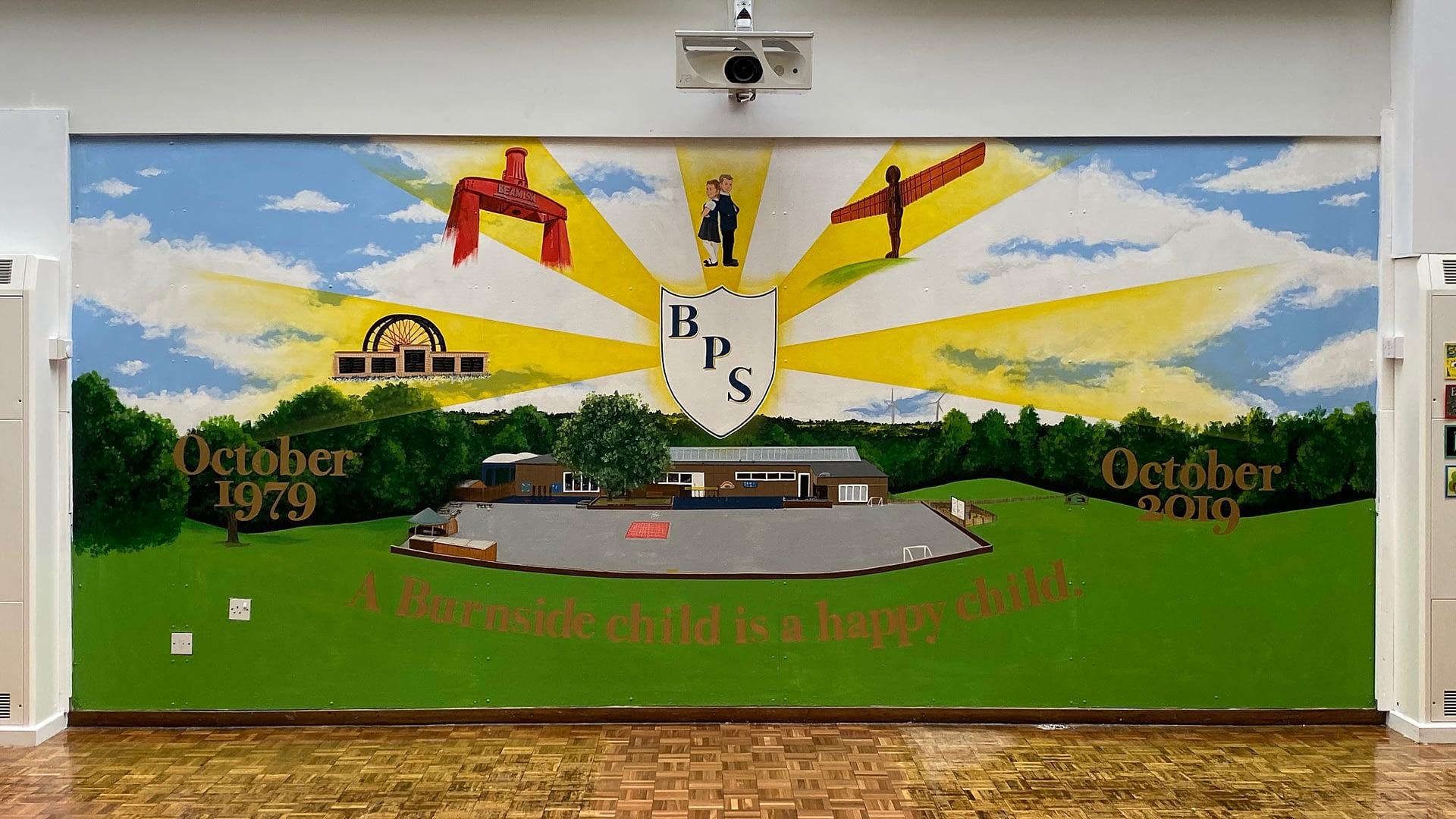 Burnside Primary School 40th Anniversary Mural