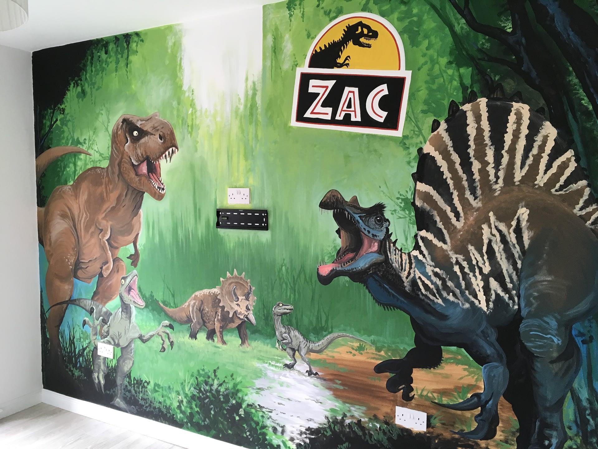 Jurassic Zac Mural