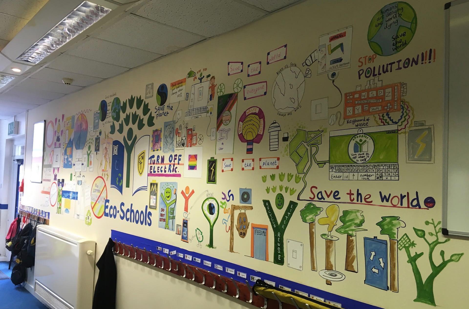 St Mary's School Eco Schools Mural