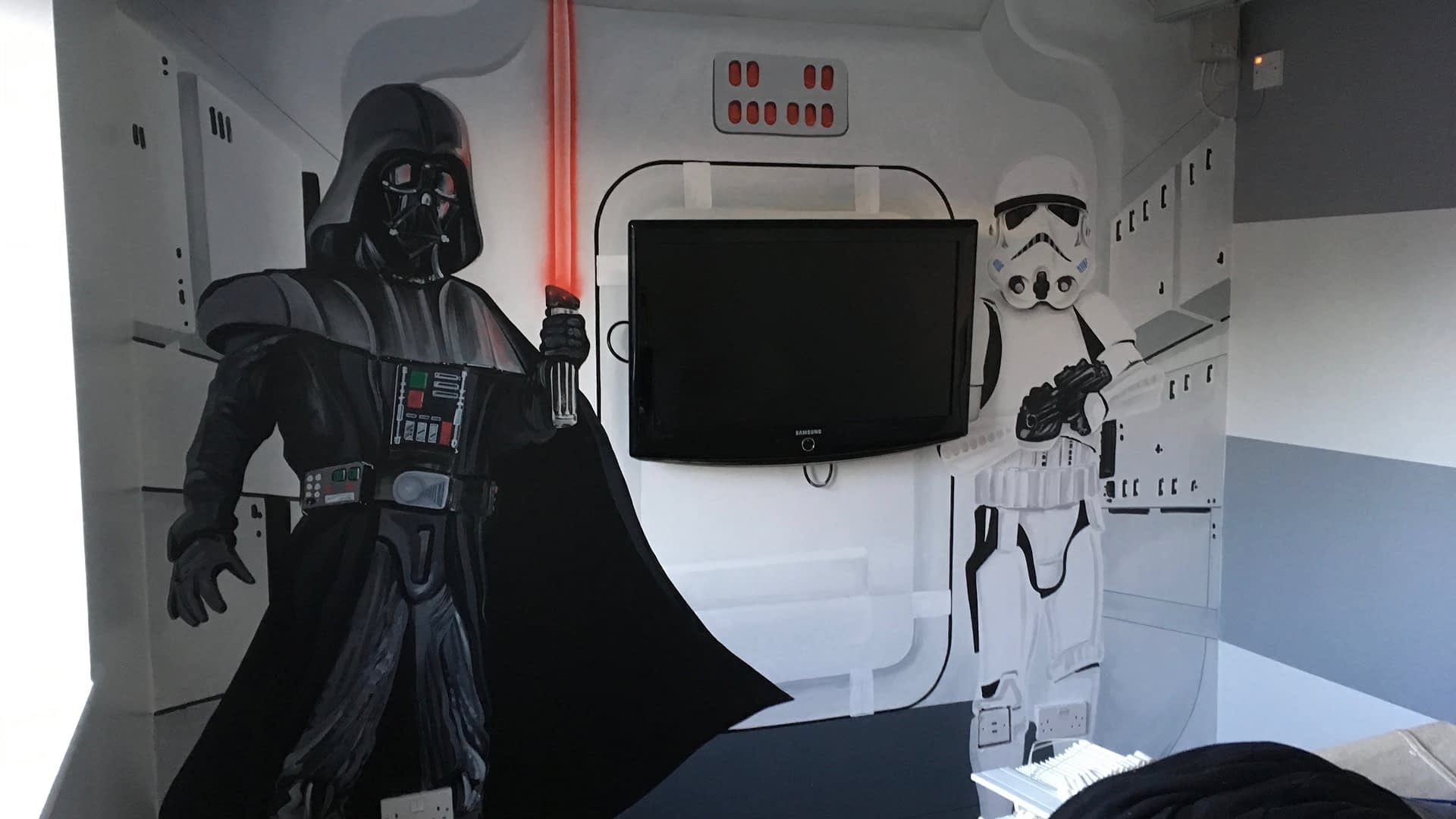 Darth Vader / Stormtrooper Mural