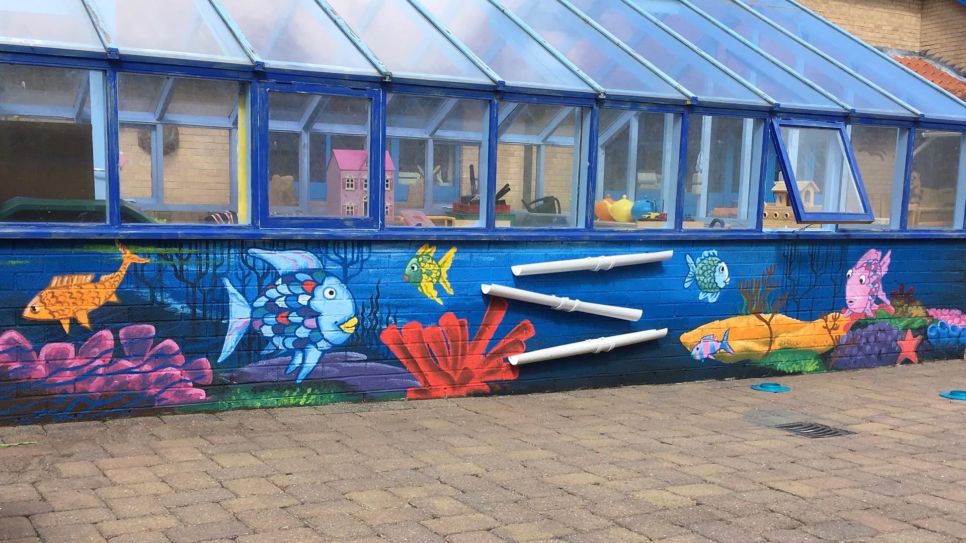 Rainbow Fish Mural ( Walworth School )