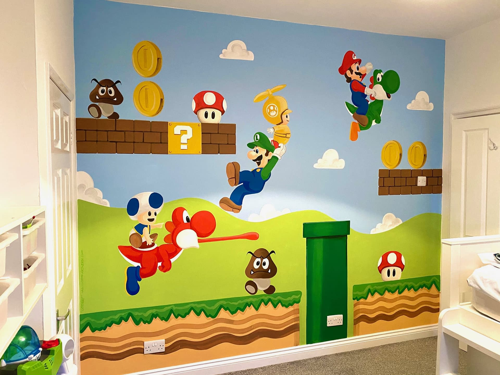 Hey Its Mario Mural