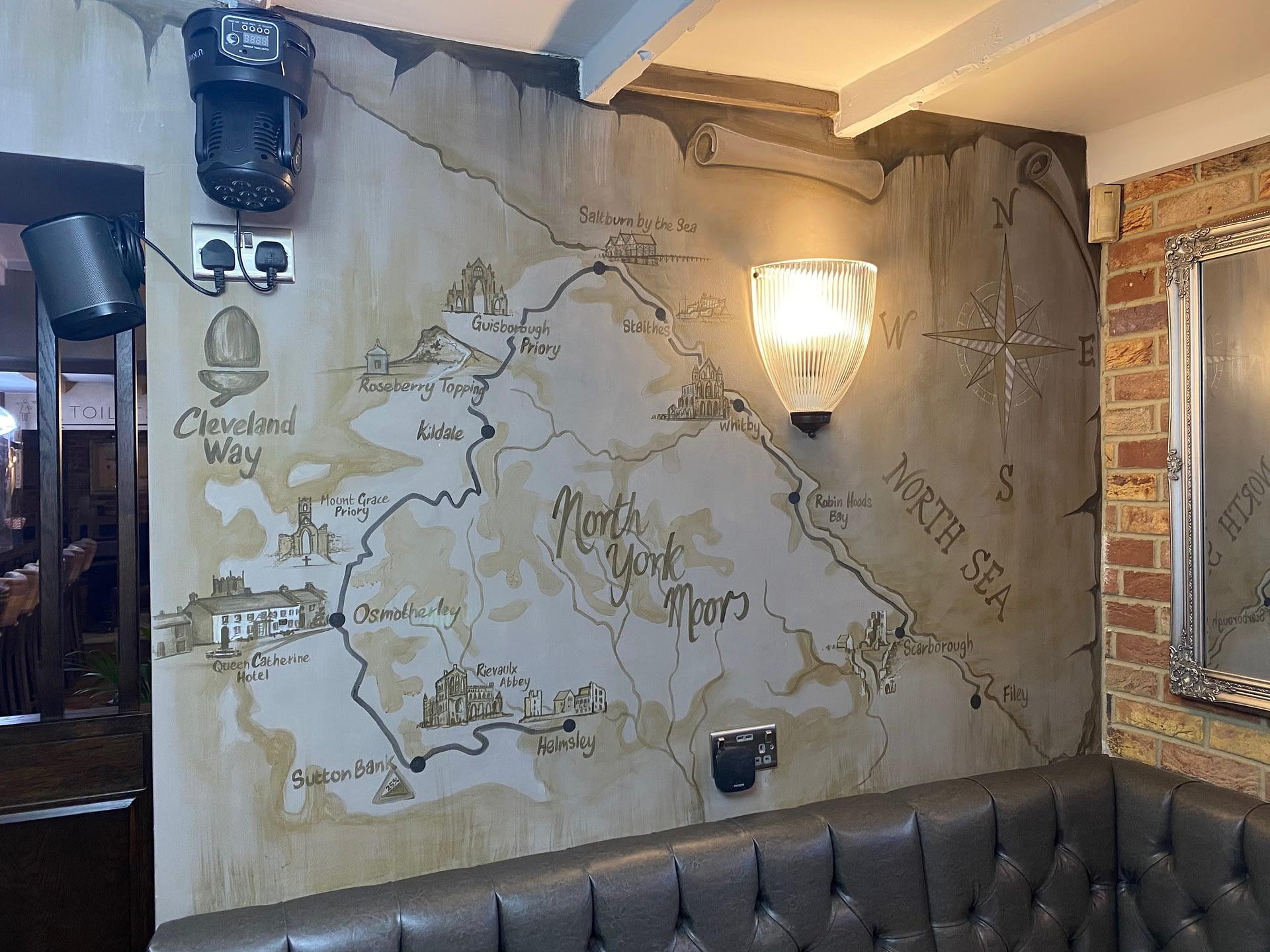 Cleveland way Mural Queen Caherine Hotel
