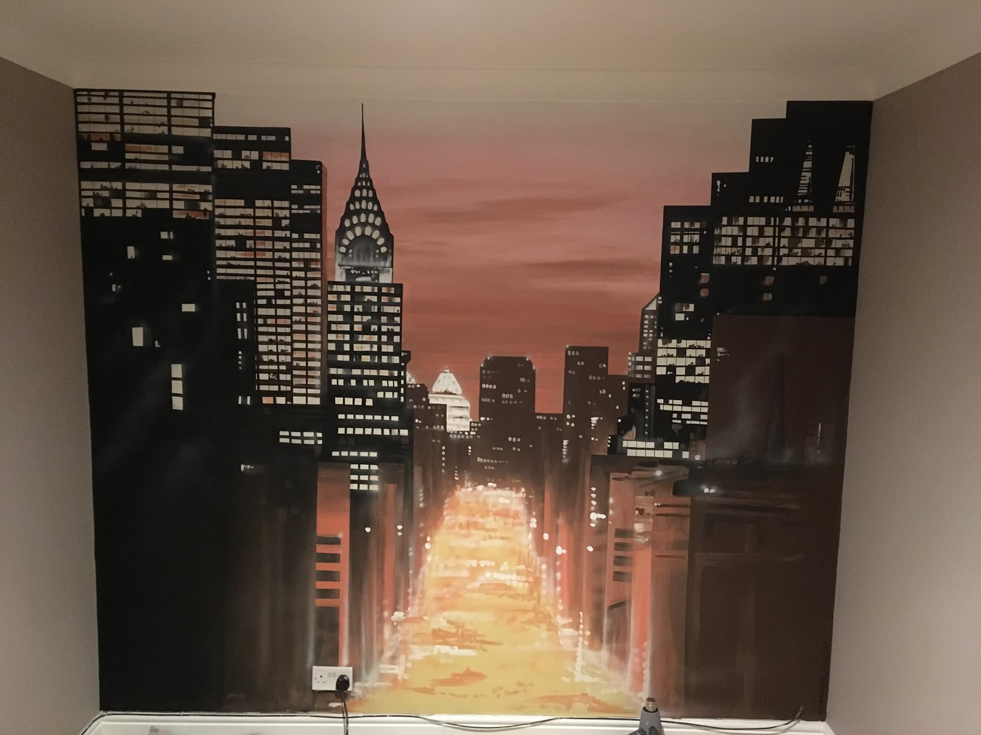 New York Sunset Mural