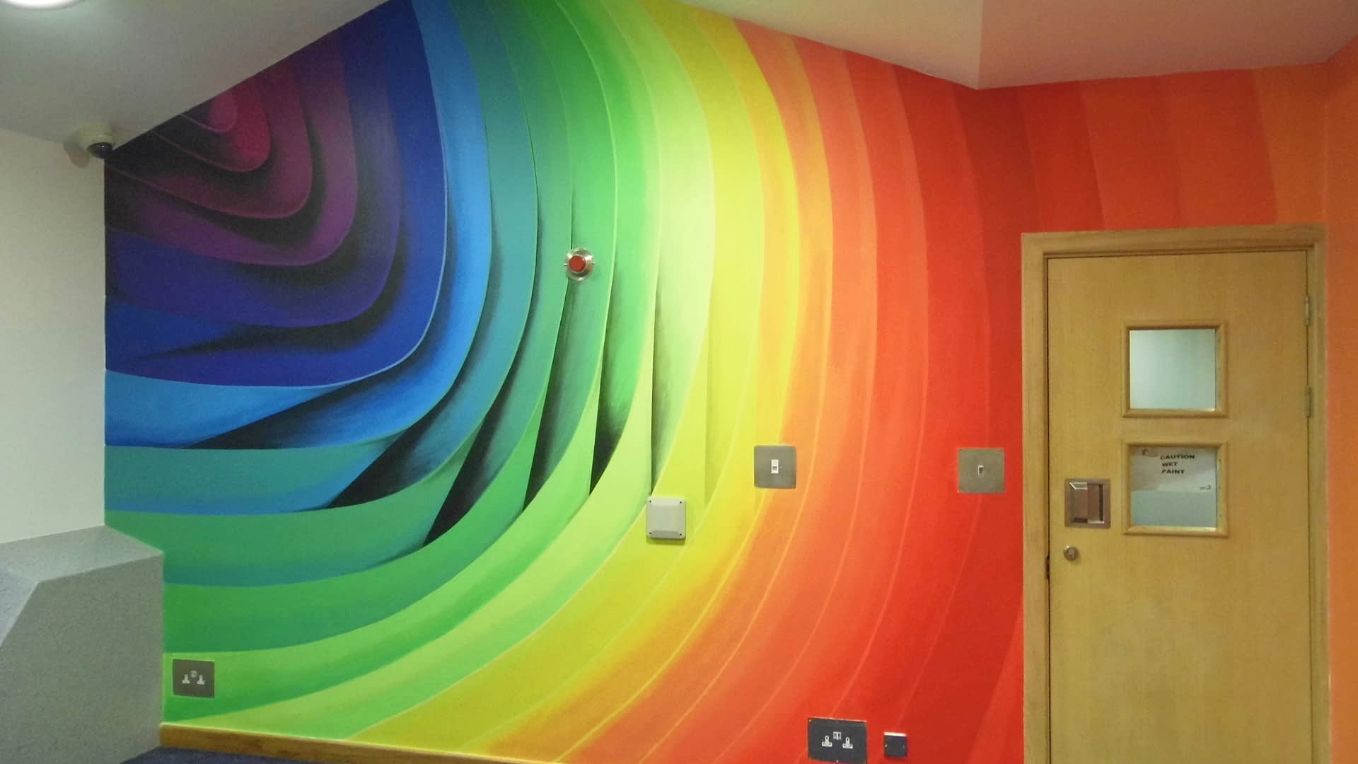 Abstract 3D Spectrum Mural