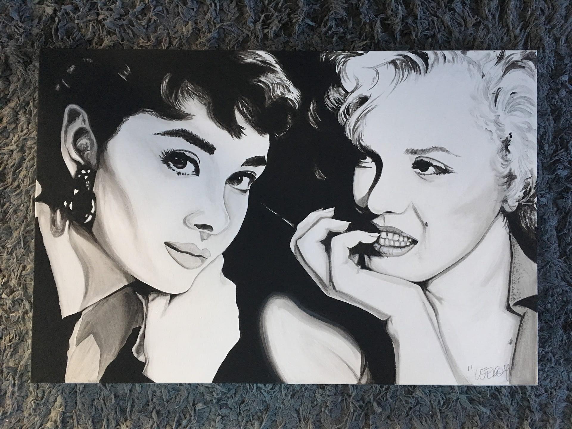 Marilyn & Audrey Canvas