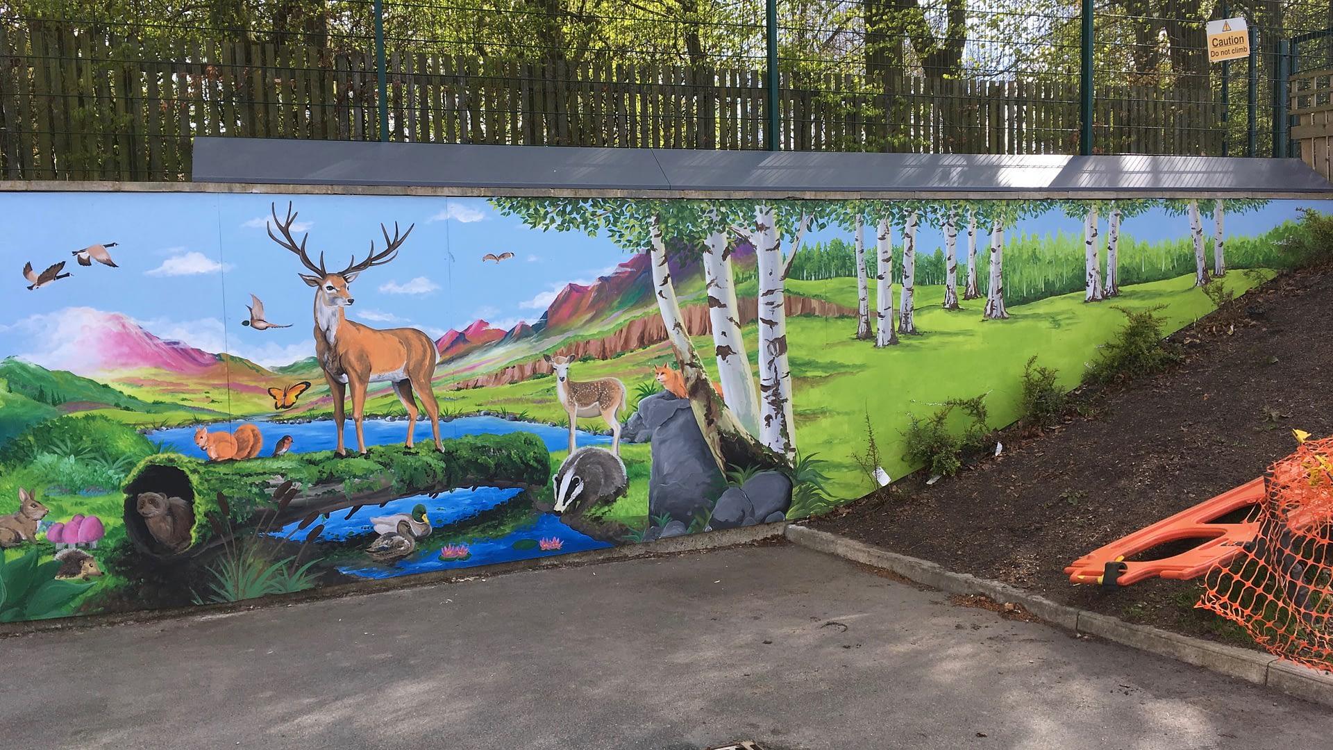 Durham Trinity School Mural 1