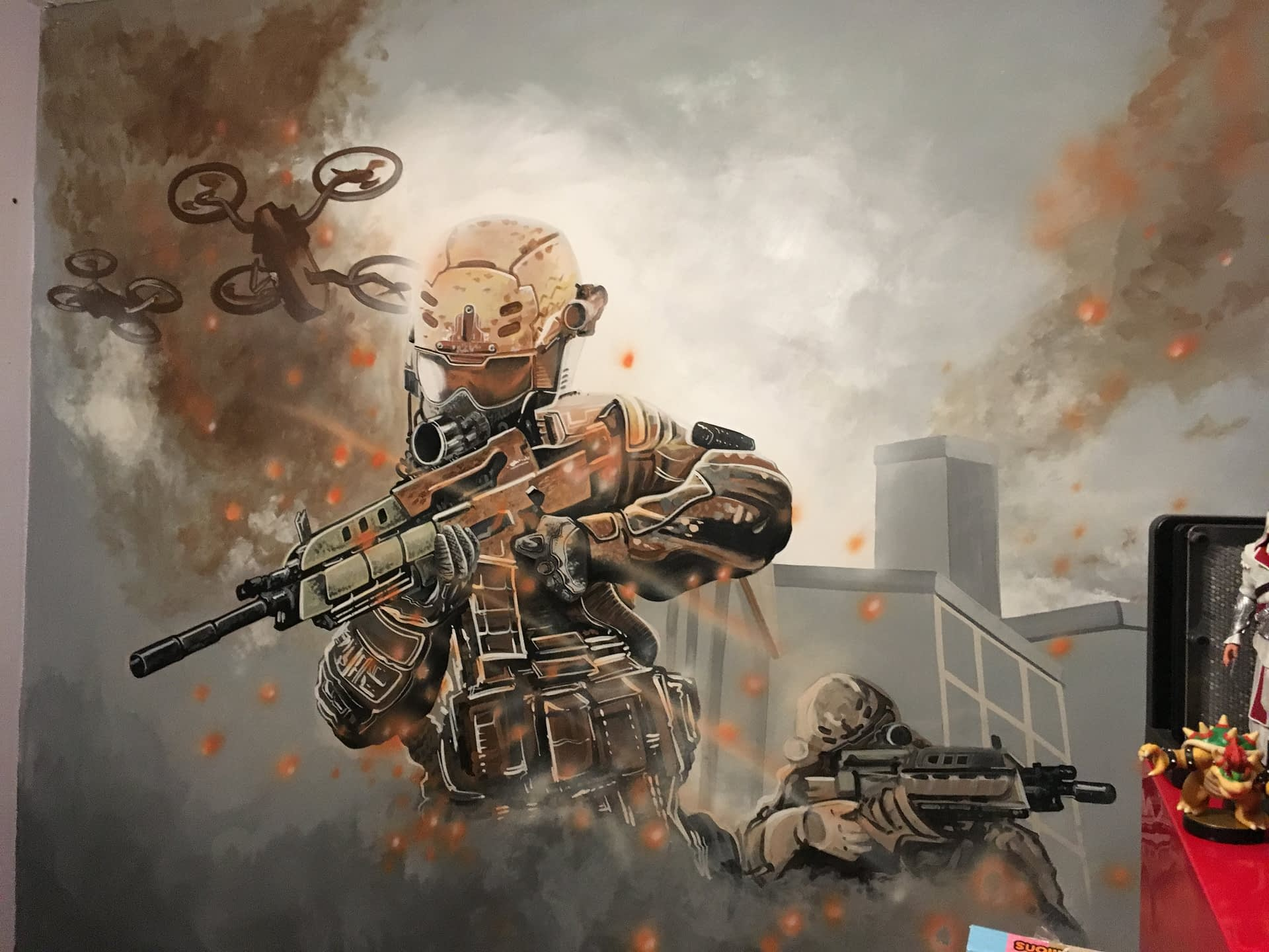 Call Of Duty MF Mural