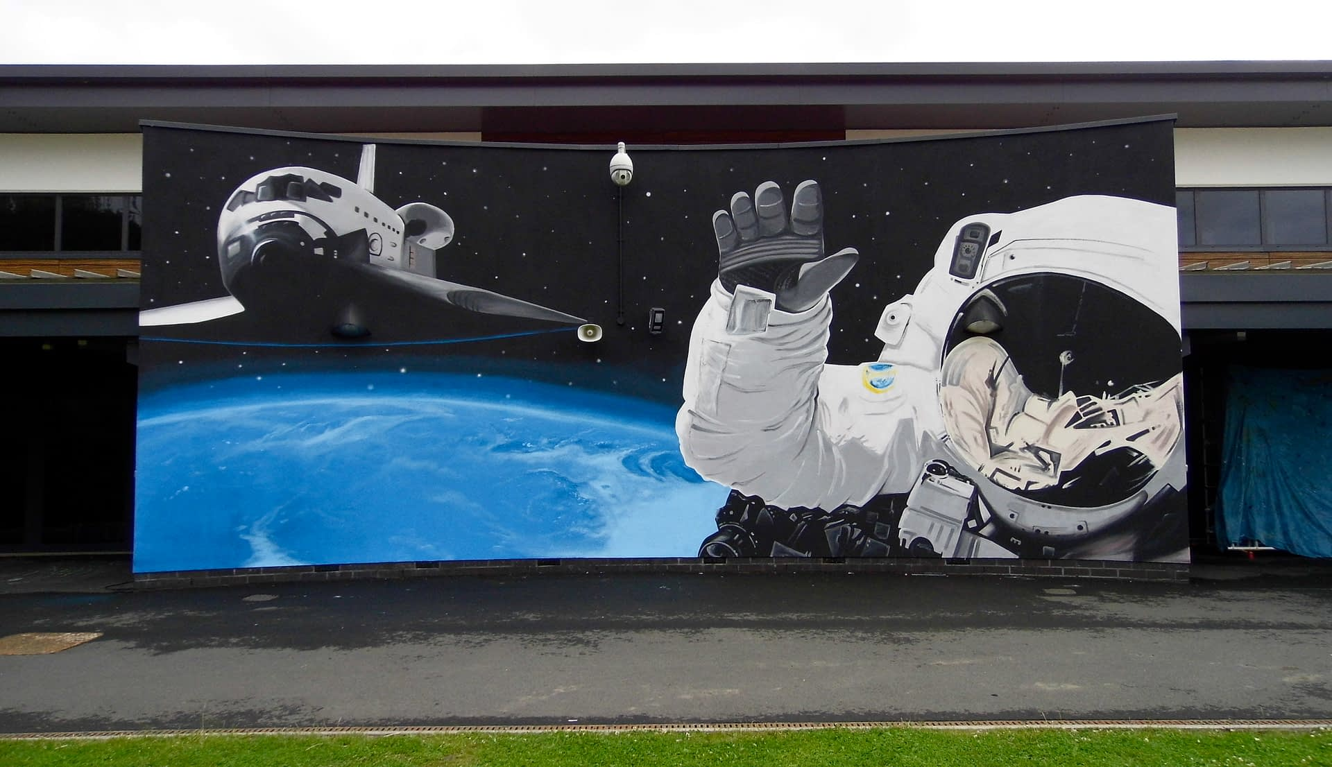 Space School Playground mural