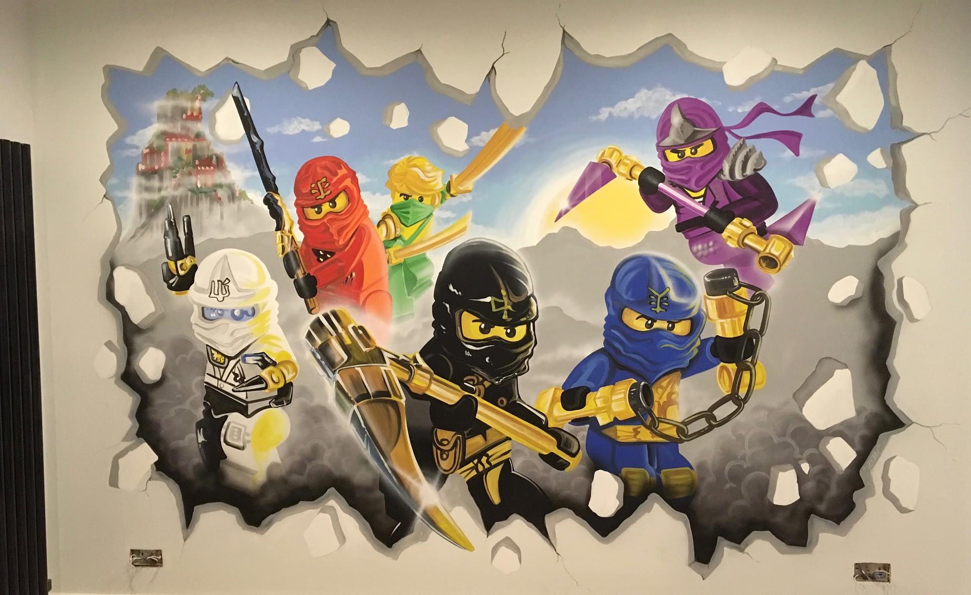 Lego Ninjago Mural