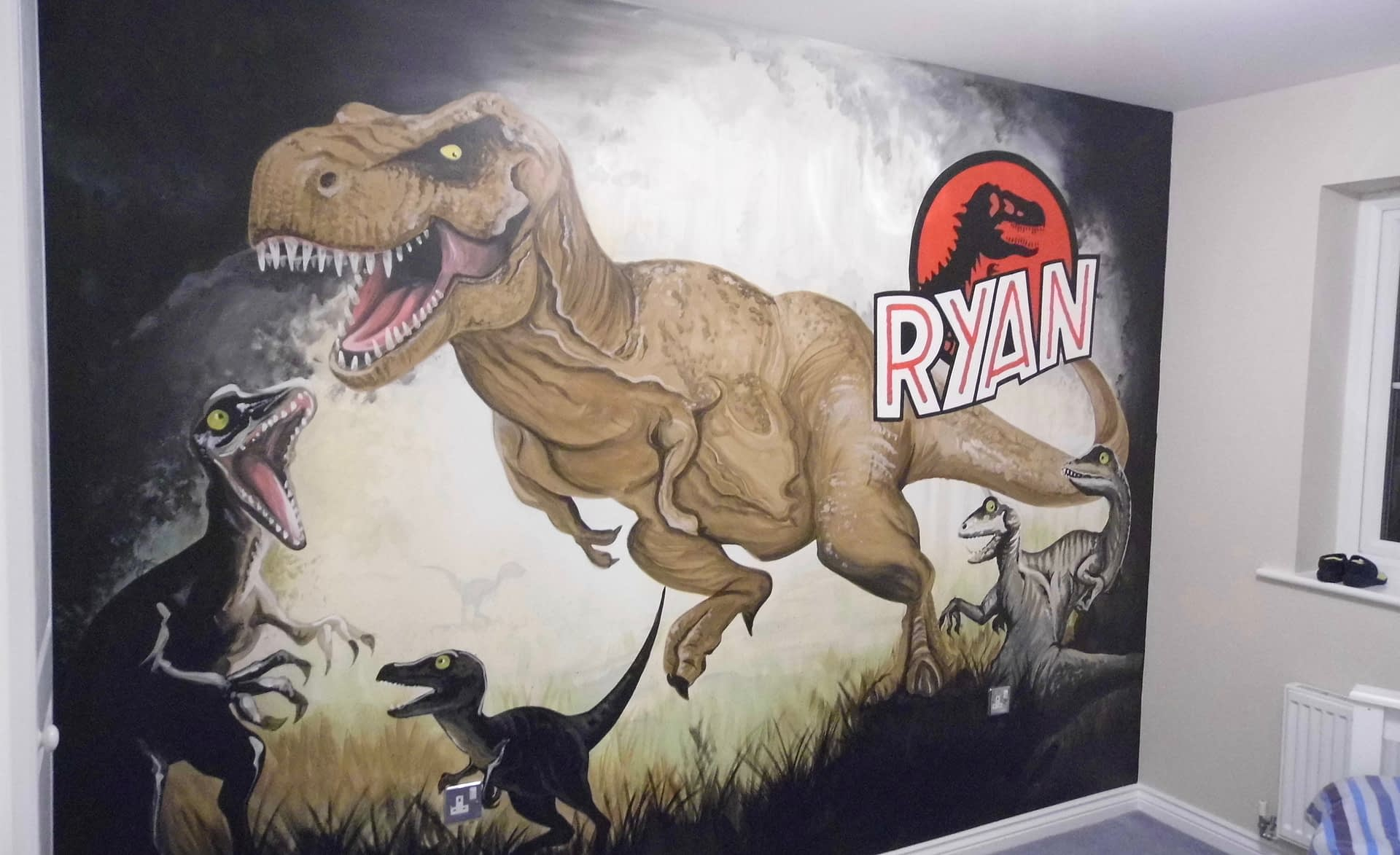 Ryan's T-Rex Mural