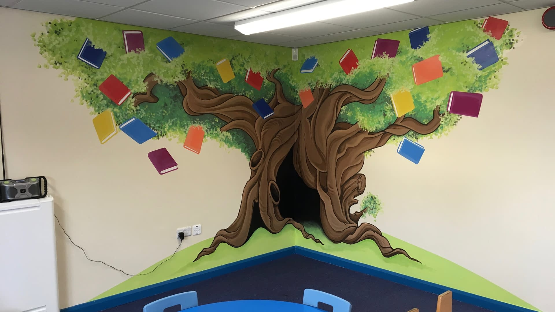 Library Reading Corner ( South Stanley infant & Nursery School )