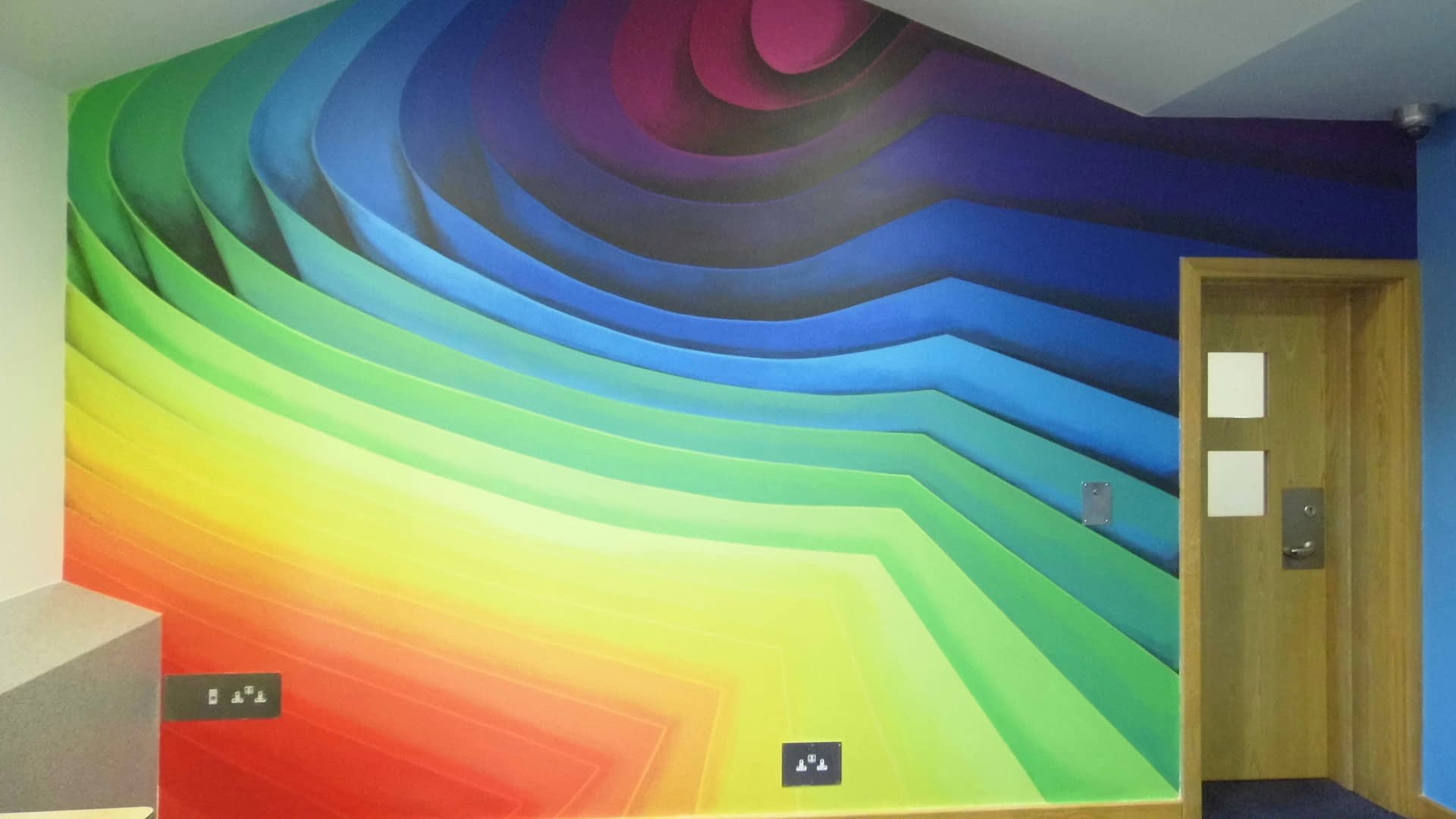 Abstract 3D Spectrum Mural II