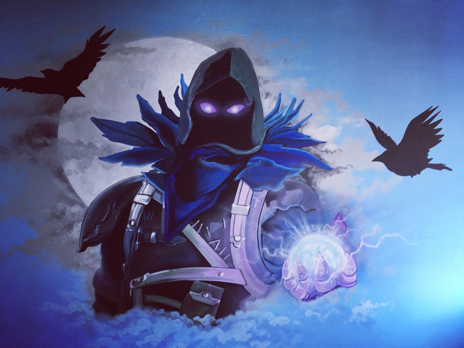 Fortnite Raven Mural